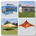 Tents with Printed Graphics